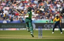 Hashim Amla plays a pull with his feet in the air, South Africa v Sri Lanka, World Cup 2019, Chester-le-Street, June 28, 2019