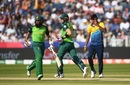 Hashim Amla and Faf du Plessis take a single, South Africa v Sri Lanka, World Cup 2019, Chester-le-Street, June 28, 2019