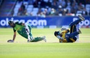 Hashim Amla slips after playing a shot, South Africa v Sri Lanka, World Cup 2019, Chester-le-Street, June 28, 2019