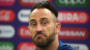 It's been a tough 2019 World Cup for Faf du Plessis and his South African team