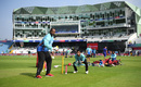 Phil Simmons gives catching practice, Afghanistan v Pakistan, World Cup 2019, Headingley, June 29, 2019