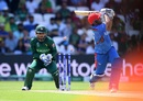 Asghar Afghan goes for a biggie and misses altogether, Afghanistan v Pakistan, World Cup 2019, Headingley, June 29, 2019