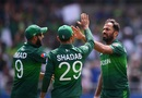 Wahab Riaz celebrates a wicket, Afghanistan v Pakistan, World Cup 2019, Headingley, June 29, 2019