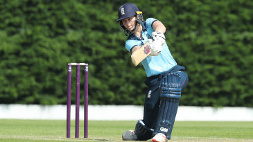 Amy Jones of England bats against Australia A Women