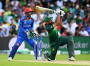 Wahab Riaz connects with the defining blow of the match, Afghanistan v Pakistan, World Cup 2019, Headingley, June 29, 2019