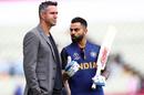 Virat Kohli has a chat with Kevin Pietersen, England v India, World Cup 2019, Edgbaston, June 30, 2019