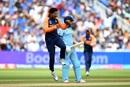 Kuldeep Yadav celebrates after dismissing Jason Roy to break the opening stand, England v India, World Cup 2019, Edgbaston, June 30, 2019