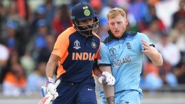 Virat Kohli and Ben Stokes bump into each other