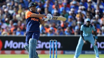 MS Dhoni struggled to accelerate during a steep chase