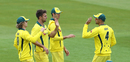 Mitch Marsh celebrates a wicket, Northamptonshire v Australia A, Northampton, June 20, 2019