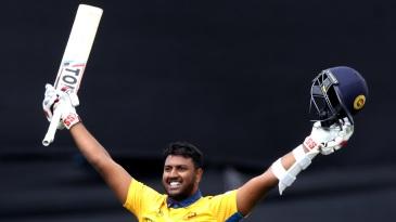Avishka Fernando scored his maiden ODI hundred
