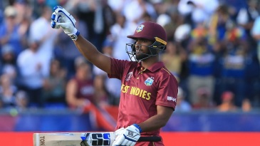Nicholas Pooran played superbly to get his maiden ODI hundred