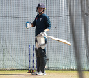 Nat Sciver bats in the nets, Grace Road, July 1, 2019