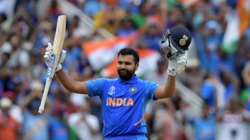 Rohit Sharma became the leading scorer at this year's World Cup during the course of his hundred