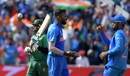 Shakib Al Hasan walks back after being caught by Dinesh Karthik off Hardik Pandya, Bangladesh v India, World Cup 2019, Edgbaston, July 2, 2019