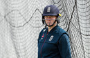 Anya Shrubsole looks on during the England nets practice at Fischer County Ground, Leicester, July 01, 2019