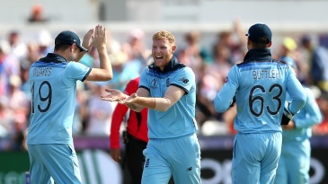 Ben Stokes struck with his first ball to dismiss Colin De Grandhomme