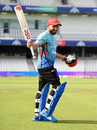 Gulbadin Naib gestures for the cameras, Afghanistan v West Indies, World Cup 2019, Headingley, July 4, 2019
