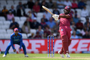Evin Lewis muscles a pull, Afghanistan v West Indies, World Cup 2019, Headingley, July 4, 2019