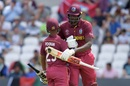 Nicholas Pooran and Jason Holder put on a century stand toward the end, Afghanistan v West Indies. World Cup 2019, Headingley, July 4, 2019