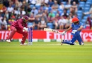 Shai Hope missed a great chance to stump Ikram Alikhil, Afghanistan v West Indies. World Cup 2019, Headingley, July 4, 2019