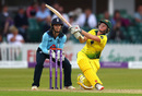 Beth Mooney swings into the leg side, England v Australia, 2nd ODI, Leicester, July 04, 2019