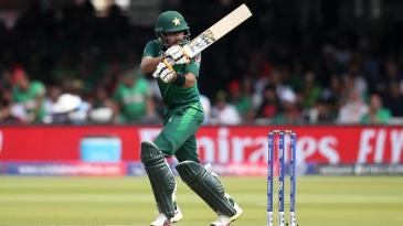 Babar Azam gets those wrists working as he brings up another half-century