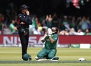 Imam-ul-Haq falls to his knees in prayer after reaching a century, Bangladesh v Pakistan, World Cup 2019, Lord's, July 5, 2019