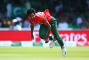 Mustafizur Rahman in full flow, Bangladesh v Pakistan, World Cup 2019, Lord's, July 5, 2019