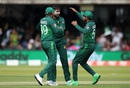 Mohammad Amir celebrates Soumya Sarkar's wicket, Bangladesh v Pakistan, World Cup 2019, Lord's, July 5, 2019