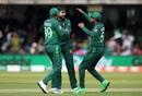Mohammad Amir celebrates Soumya Sarkar's wicket, Bangladesh v Pakistan, World Cup 2019, Lord's, July 5, 2019