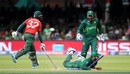 Shadab Khan attempts to run out Mosaddek Hossain with a brilliant effort, Bangladesh v Pakistan, World Cup 2019, Lord's, July 5, 2019