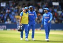 Virat Kohli and Mohammed Shami share a joke, India v Sri Lanka, World Cup 2019, Leeds, July 6, 2019