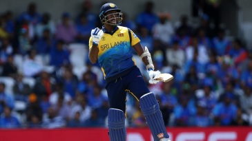 Angelo Mathews scored his third hundred against India