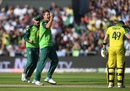 Dwaine Pretorius celebrates trapping Steve Smith LBW, Australia v South Africa, World Cup 2019, Old Trafford, July 6, 2019