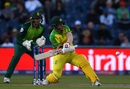David Warner attempts a reverse sweep, Australia v South Africa, World Cup 2019, Old Trafford, July 6, 2019