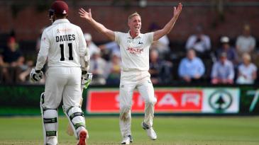 Luke Wood claimed a four-wicket haul