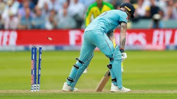 Earlier in the tournament, Michell Starc's scything yorker zeroed in on the base of off stump;  Ben Stokes never had a chance