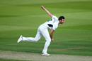 Toby Roland-Jones on his follow-through, Middlesex v Sussex, County Championship Division Two, Lords, June 02, 2019