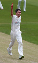 Graham Onions celebrates a wicket, Northamptonshire v Lancashire, County Championship, Wantage Road, July 8, 2019