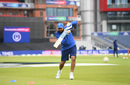 Rohit Sharma trains before play, India v New Zealand, World Cup 2019, Old Trafford, July 9, 2019