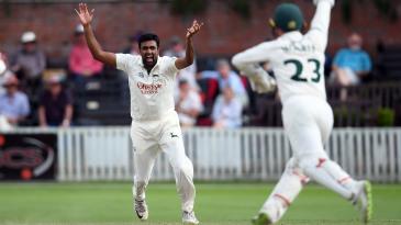 R Ashwin appeals for a leg-before chance