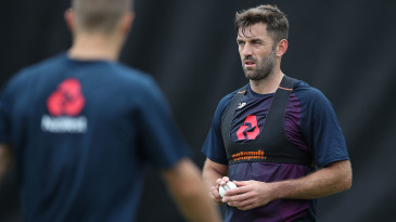 Liam Plunkett at England's nets session