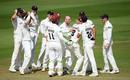 Jack Leach celebrates a wicket, Somerset v Nottinghamshire, County Championship, 2nd day, July 9, 2019