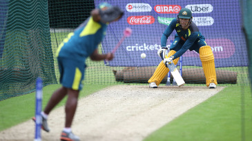 Alex Carey ramps in the nets