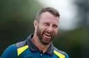 Matthew Wade is all smiles after being confirmed as Usman Khawaja's replacement, July 10, 2019