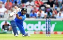 Rishabh Pant got India moving with some classy strokes, keeping New Zealand to 239, India v New Zealand, World Cup 2019, Old Trafford, July 10, 2019
