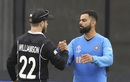 Virat Kohli congratulates Kane Williamson after the game, India v New Zealand, World Cup 2019, Old Trafford, July 10, 2019