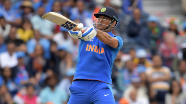 MS Dhoni smashed a six late into the chase