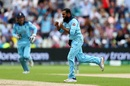Adil Rashid celebrates after dismissing Alex Carey, England v Australia, World Cup 2019, Edgbaston, July 11, 2019